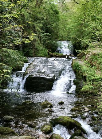 th� ¨: Tha Falls a Watersmeet Exmoor  Archivio Fotografico
