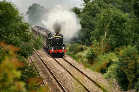 king edward: King Edward I in action at the Claverham flats with the Torbay Express special train