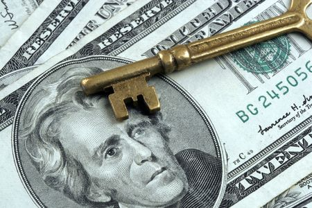 Skeleton Key And US Currency photo