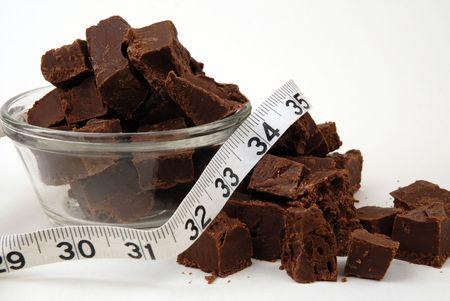 resolve: New Years Resolve - Chocolate Fudge And Measuring Tape
