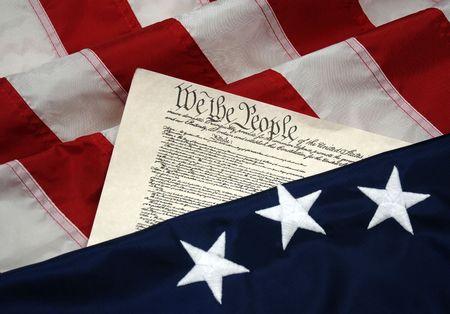 constitucion: Comienzos de Am�rica - Betsy Ross colonial bandera y Constituci�n de los Estados Unidos