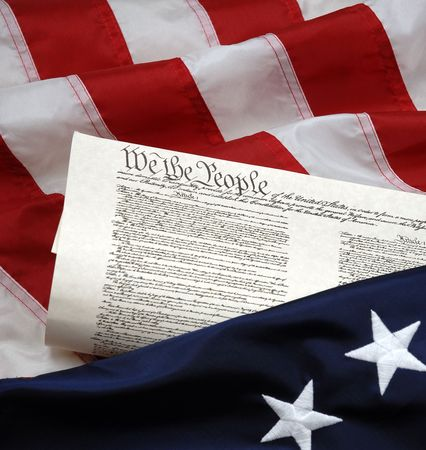 beginnings: American Beginnings - Betsy Ross colonial flag and United States Constitution