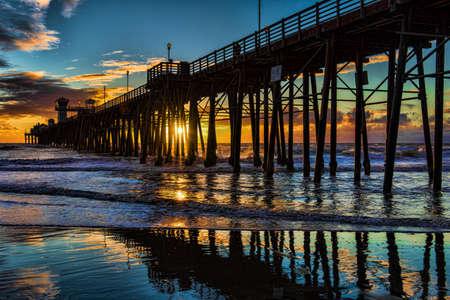 sunsets: Oceanside Pier - Oceanside is 40 miles North Of San Diego, California