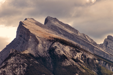 banff: Mount Rundle above the town of Banff, Banff National Park, Alberta, Canada.