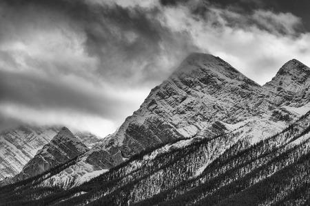 banff: The Ten Peaks majesty near Banff in Canadas Alberta Rocky Mountains Stock Photo