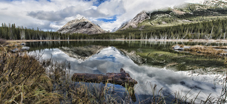 reflective: Reflective Buller Pond in Canada Stock Photo