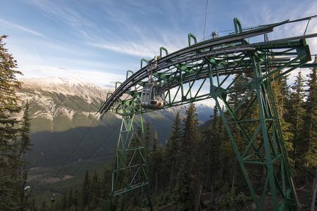 banff: The Gondola at Sulfer Mountain, just above Banff, Banff National Park, Alberta, Canada.