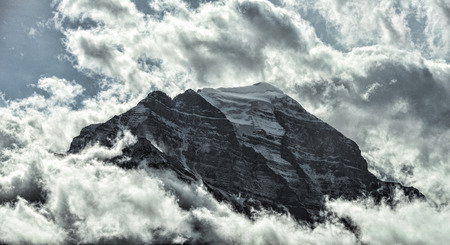banff: One of the snow-capped ten Peaks , Banff National Park, Alberta, Canada.