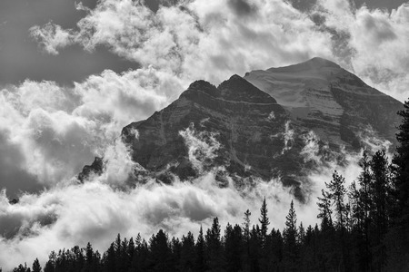 banff: A couple of the snow-capped ten Peaks , Banff National Park, Alberta, Canada.