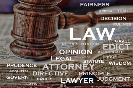 adjudicate: A wooden judge