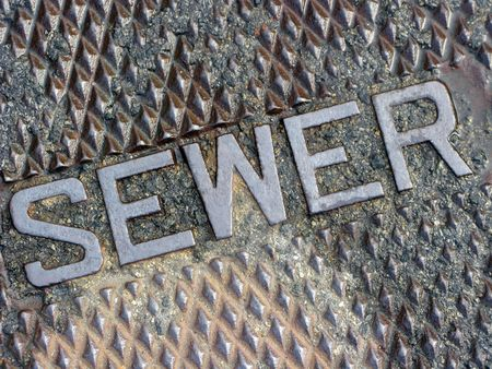 Sewer GratingManhole Cover Diagonal Macro photo