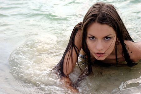 The girl in water Stock Photo - 270085