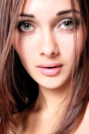 Beautiful eyes at the girl  Stock Photo