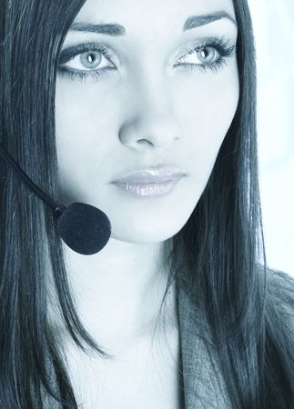 girl the operator with beautiful eyes Stock Photo - 317360