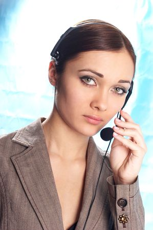 girl operator Stock Photo - 320247