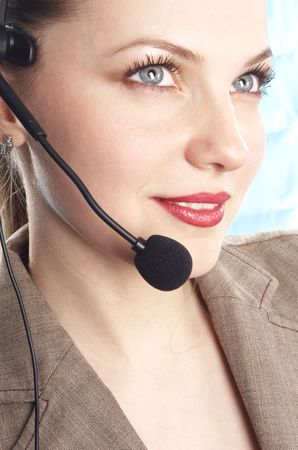 girl operator Stock Photo - 320233