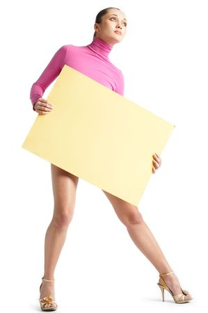 Girl with note card photo