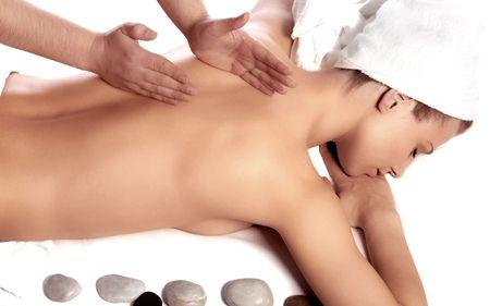 Lady in massage salon
