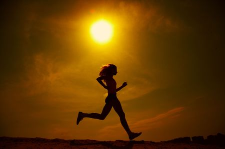 girl runs Stock Photo - 1165512
