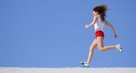 girl runs Stock Photo - 1165924