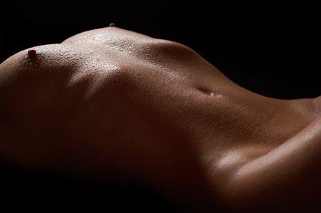 mujer desnuda senos: Perfecta chica desnuda Foto de archivo