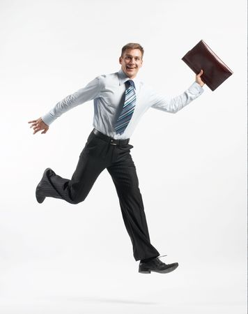 jumping manager Stock Photo - 3283945