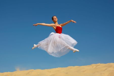 Young wonderful ballerina Stock Photo