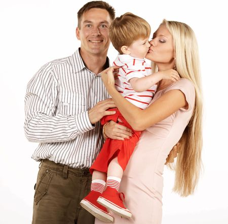 Happy family Stock Photo - 3371755