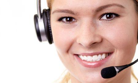 woman operator Stock Photo - 5562984