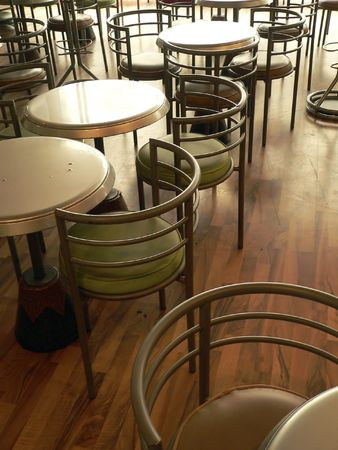 futility: Chairs on the cafe