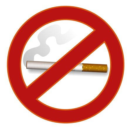 exclude: Illustration of no smoking sign Stock Photo