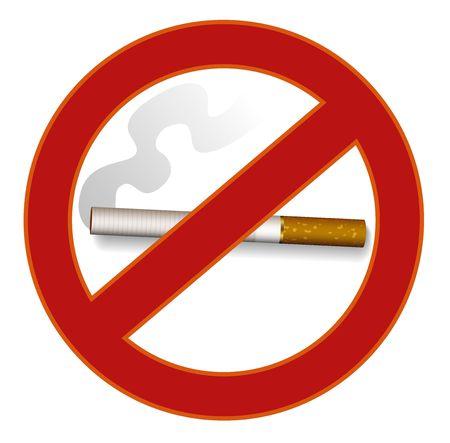 carcinogen: Ilustraci�n de no fumar signo
