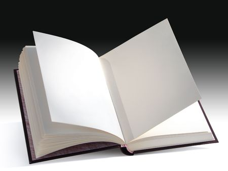 Open blank book isolated with a clipping path. You can insert your own design, text or picture.                                photo