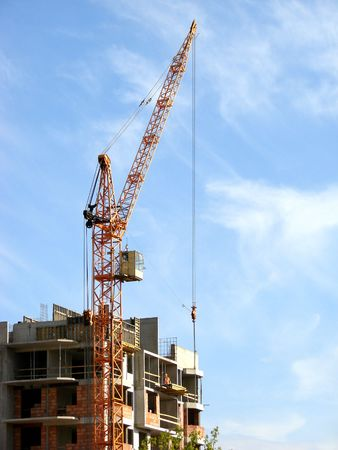 Construction site with cranes working Stock Photo - 892025