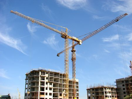 Construction site with cranes working Stock Photo - 892026