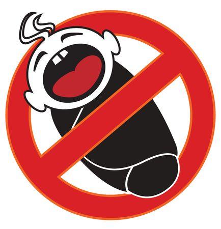 abstinence: Segno proibito bambini