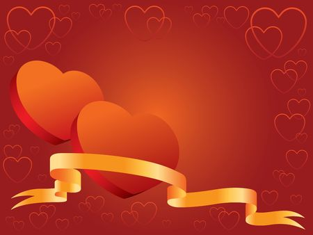 Illustration ready to use like a invitation or Valentines card Stock Illustration - 944778