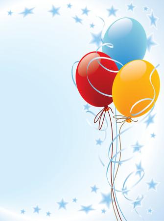 globos fiesta: Parte globos decoraci�n  Vectores
