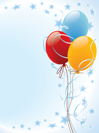 offspring: Party balloons decoration Illustration