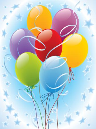 Party balloons decoration Illustration