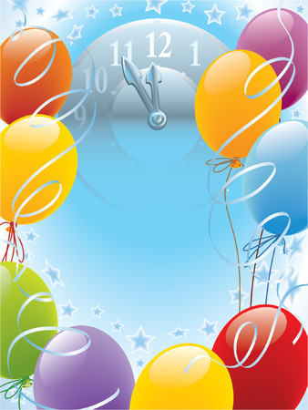 New Year balloons decoration Stock Vector - 1200767