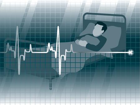 Elettrocardiogramma e un paziente  Archivio Fotografico - 1242718