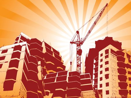 Construction site with cranes working Stock Photo - 1253701
