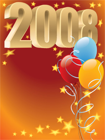 New Year 2008 decoration Vector