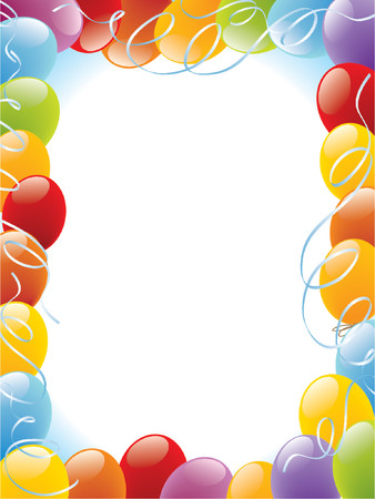 Balloons frame decoration Stock Vector - 1326250