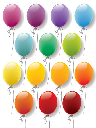 Balloons colorful collection Stock Vector - 1326251
