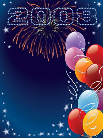 New Year decoration ready for posters and cards Stock Photo - 1334063