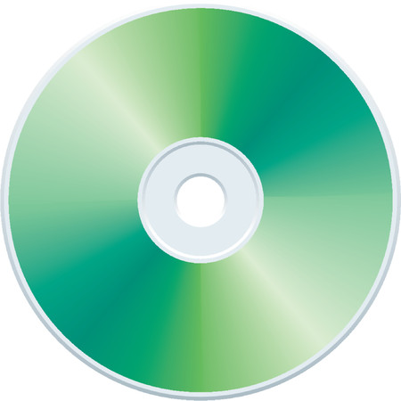 cdr: Blank green compact disc vector Illustration