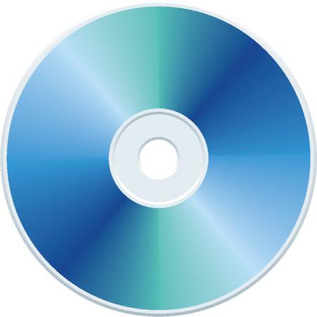 Blank blue compact disc vector Vector