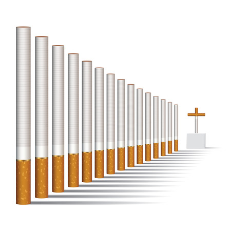 craving: Cigarettes alley and a grave, vector